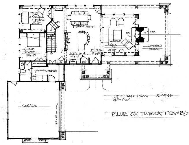The russian timber frame home floor plan blue ox for 4 bedroom timber frame house plans