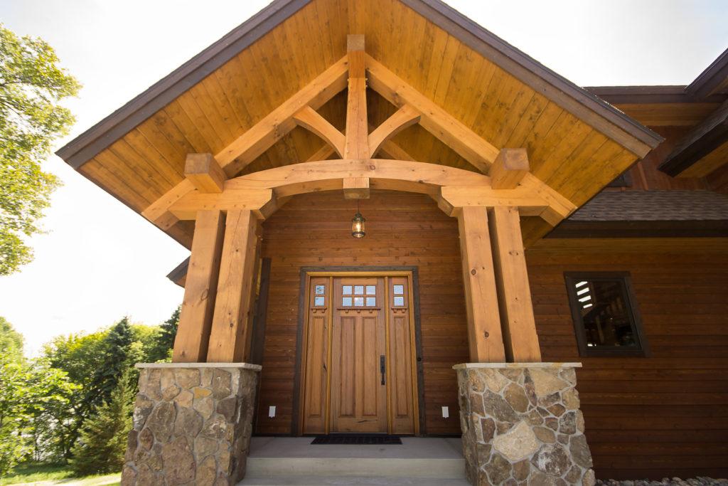 South carolina timber frame homes blue ox timber frames for Timber frame exteriors